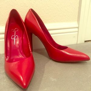Jessica Simpson Red Heels Size 9